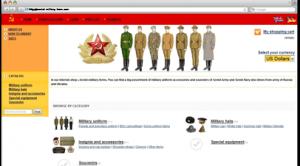 Soviet military uniform online shop